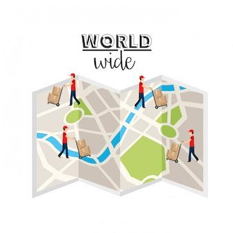 Logistisches weltweites konzept