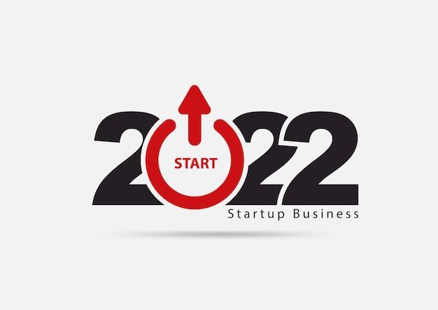 Logo 2022 neujahr startup kreative ideen konzept design, vektor-illustration moderne layout-vorlage