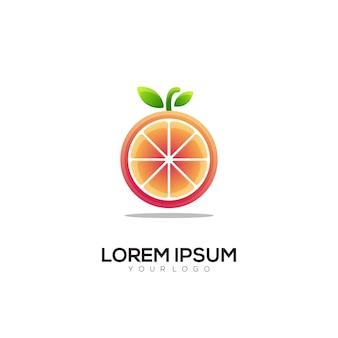 Logo-abbildung orange farbverlauf bunter stil