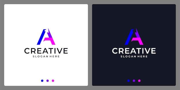 Logo-anfangsbuchstabe a zusammenfassung. premium-vektor.