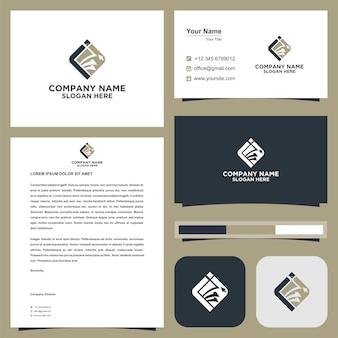 Logo anfangsbuchstabe ii visitenkarte premium vektor