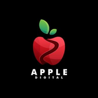 Logo apple farbverlauf bunter stil.