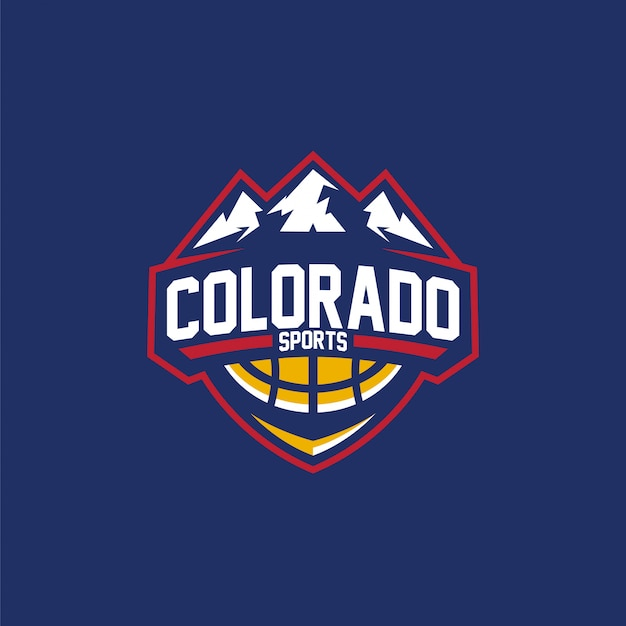 Logo basketball sport in colorado