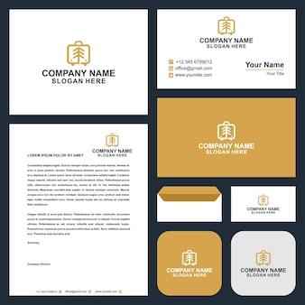 Logo-baumladen und visitenkarte