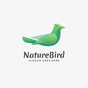 Logo bird gradient bunter stil.