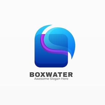 Logo box wasserverlauf bunter stil