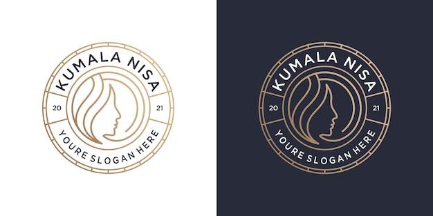 Logo-branding-vorlage für schönheitsfrauen.