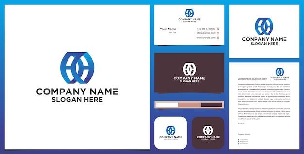 Logo buchstabe cc und visitenkarte
