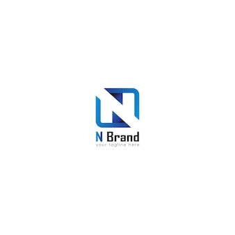 Logo buchstabe initial n