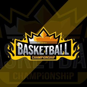 Logo der basketball-meisterschaft