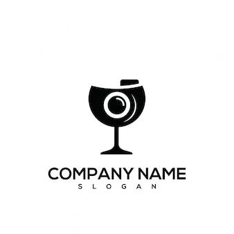 Logo der fotografie aus glas