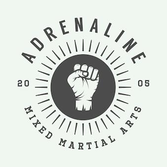 Logo der gemischten kampfkunst