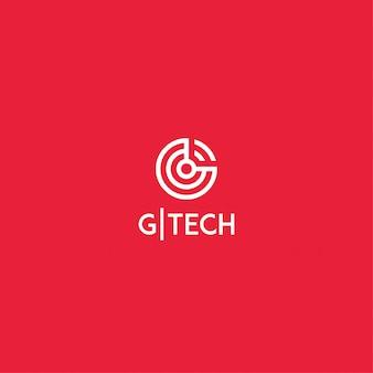 Logo der geschäftstechnologie buchstabe g
