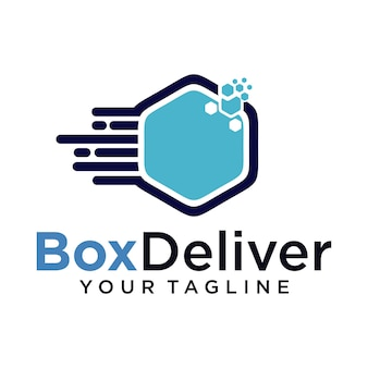 Logo der logistischen lieferung