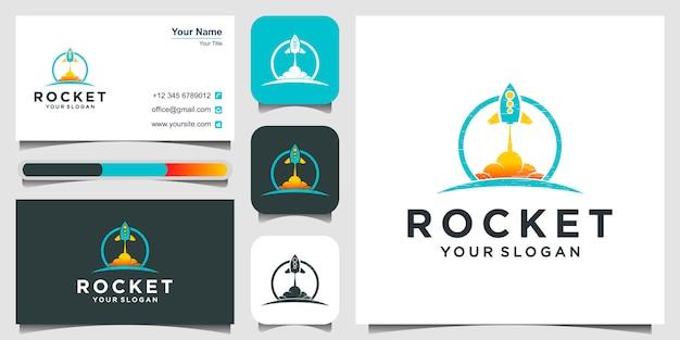 Logo der rakete und visitenkarte