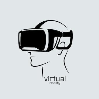 Logo der virtuellen realität
