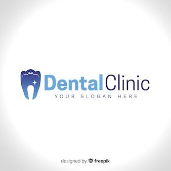 Logo der zahnklinik mit farbverlauf