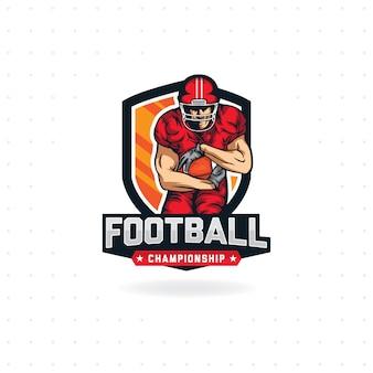 Logo des amerikanischen fußballs