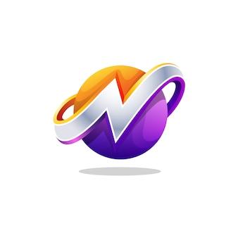 Logo des buchstaben 3d