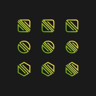Logo des buchstaben eingestellt in steigungsfarbe