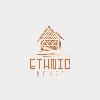 Logo des ethnischen hauses