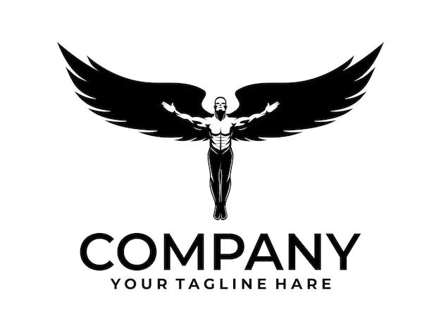 Logo des geflügelten mannes