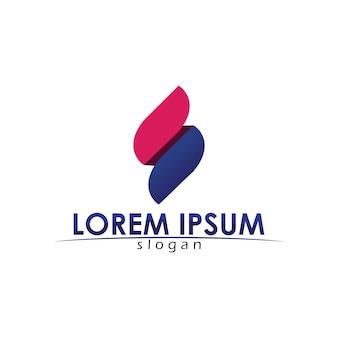 Logo des geschäftsunternehmensbuchstaben s