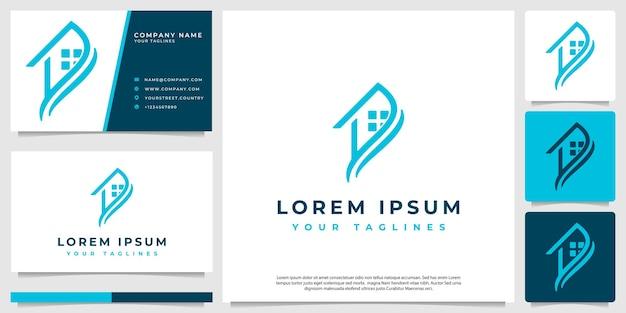 Logo des modernen minimalistischen hauses