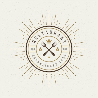 Logo des restaurantgeschäfts