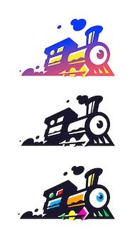 Logo des zuges, lokomotive.