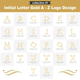 Logo design a - z gold