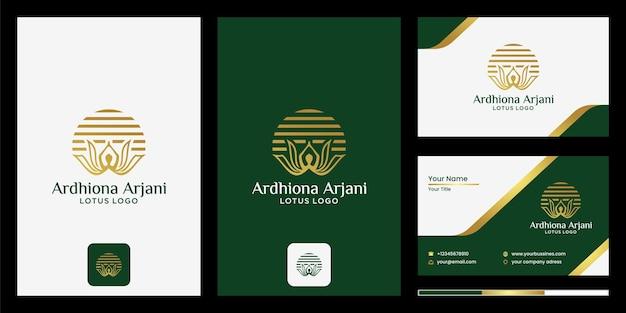 Logo design abstrakte lotusblumen mit silhouetten von menschen yoga meditation fitness gesundheit, spa beauty vector lotusblumen design logo