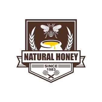Logo-design, abzeichen, banner, social-media-anzeigen und etiketten für honigprodukte