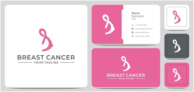 Logo-design brustkrebs krebs oktober bewusstseinsband vektor