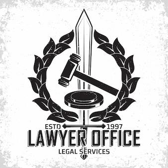 Logo-design der anwaltskanzlei