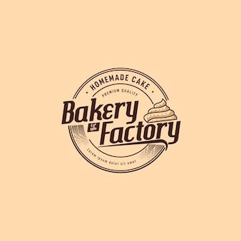 Logo-design der bäckerei-fabrik