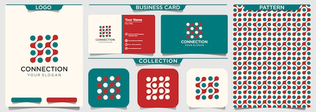 Logo-design der digitalen verbindung der abstrakten technologie