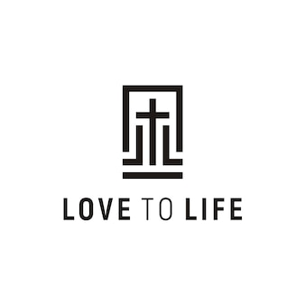 Logo-design der kirche