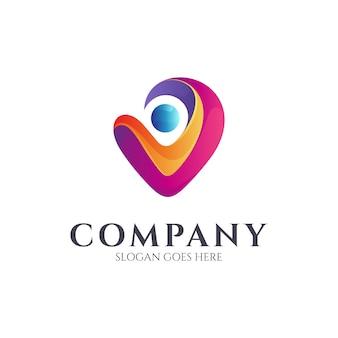 Logo-design der menschlichen liebe