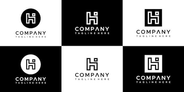 Logo-design der monogrammsammlung