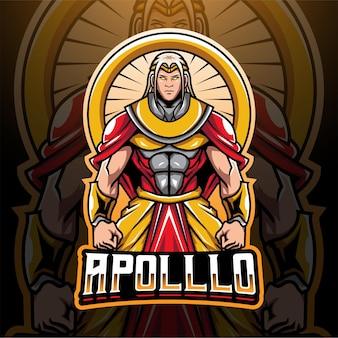 Logo-design des apollo-esport-maskottchens