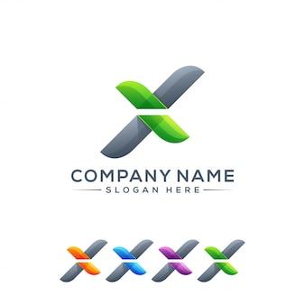 Logo-design des buchstaben x gebrauchsfertig