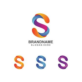 Logo-design des bunten buchstabens