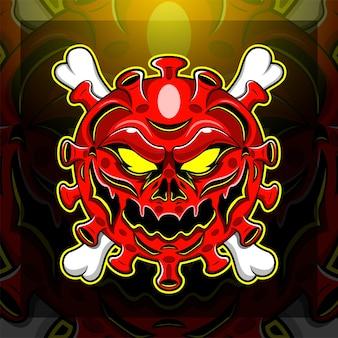 Logo-design des corona-virus-esport-maskottchens