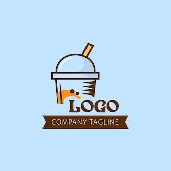 Logo-design des fruchtsaftunternehmens