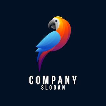 Logo-design des papageien 3d