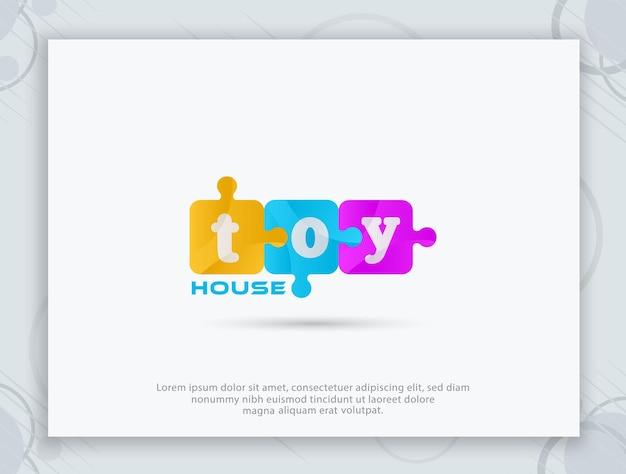Logo-design des spielzeugladens
