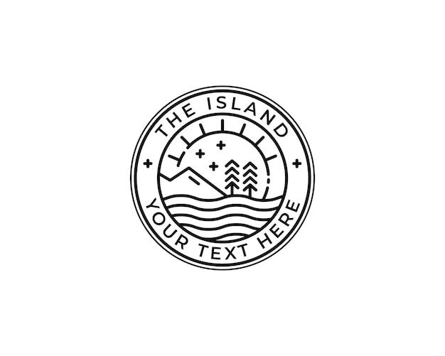 Logo-design des tropischen inselabzeichens