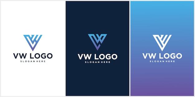 Logo-design des wv-logos