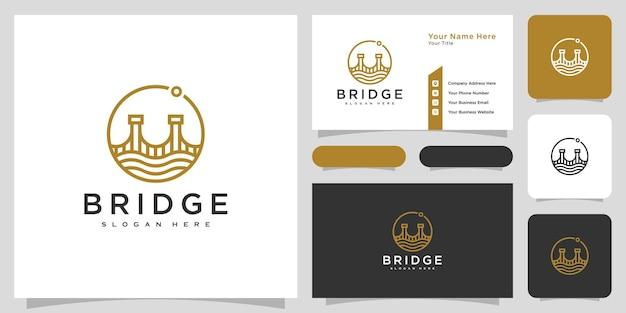 Logo-design für brückenarchitektur und konstruktionen